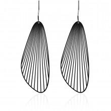 Fan Earrings M (Black) - Moorigin