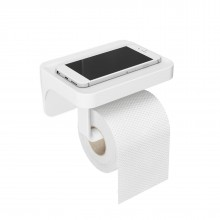 Flex Sure-Lock Toilet Paper Holder & Shelf - Umbra