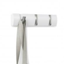 FLIP 3 Hook Coat Rack (White) - Umbra