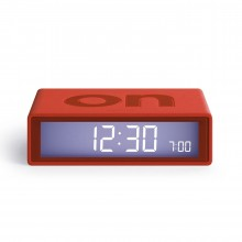 Flip LCD Alarm Clock Red - LEXON