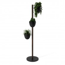 Floristand Planter (Black / Walnut) - Umbra