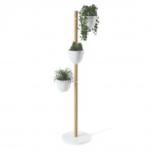 Floristand Planter (White / Natural) - Umbra