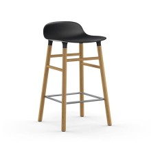 Form Barstool 65 cm Oak (Black) - Normann Copenhagen