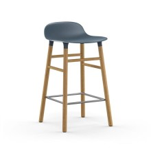 Form Barstool 65 cm Oak (Blue) - Normann Copenhagen
