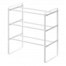 Frame 3-Tiered Expandable Shoe Rack (White) - Yamazaki