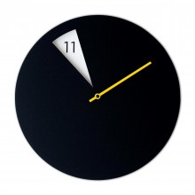 Freakish Wall Clock (Black / Yellow) – Sabrina Fossi Design