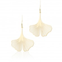 Ginkgo Earrings S (Gold) - Moorigin