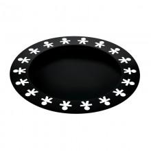Girotondo Round Tray (Black) - Alessi