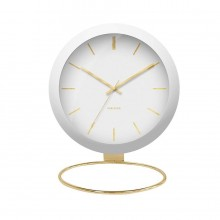 Globe Table Clock (White) - Karlsson