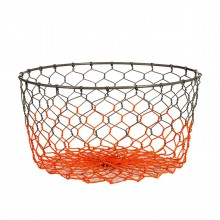 Gradient Basket Neon Orange Straight - Pols Potten