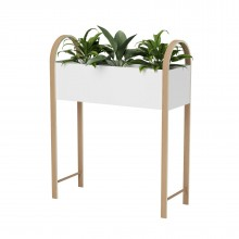 Grove Storage with Planter (White / Natural) - Umbra