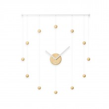 Hangtime Wall Clock (White / Natural) - Umbra