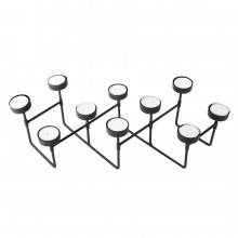 Harmonica Tealight Holder (Black) - Present Time