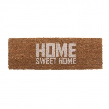 Home Sweet Home Door Mat (White / Brown) - Present Time