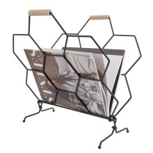 Honeycomb Magazine Rack (Black) - Present Time