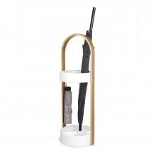 Hub Umbrella Stand (White / Natural) - Umbra