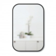 Hub Wall Mirror Rectangular 61 x 91 cm (Black) - Umbra