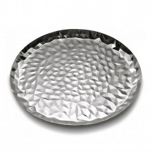 Joy n. 3 Round Tray (Stainless Steel) - Alessi