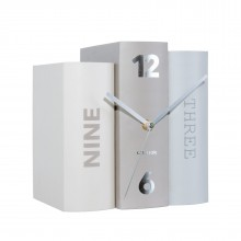 Table Clock Book (Grey) - Karlsson