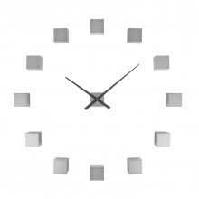 Do It Yourself Cubic Wall Clock (Silver) - Karlsson