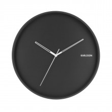 Hue Metal Wall Clock (Black) - Karlsson