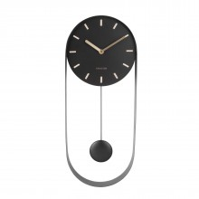 Pendulum Charm Wall Clock (Black) - Karlsson