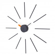 Urchin Wall Clock (Black/Orange) - KLOX