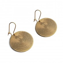 Knossos Labyrinth Round Earrings - A Future Perfect