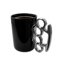Knuckle Duster Mug (Black/ Silver)