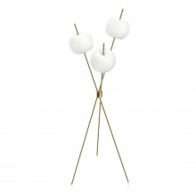 Kushi LED Floor Lamp (Brass) - Kundalini