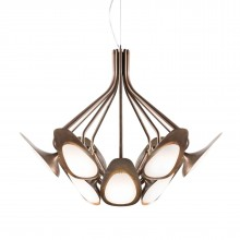 Peacock Suspension Lamp (Acid-Etched Brass) - Kundalini