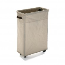 Laundry Basket with Wheels (Beige) - Versa
