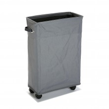 Laundry Basket with Wheels (Grey) - Versa