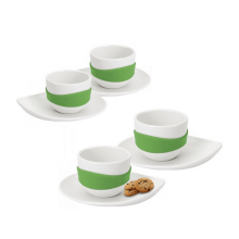 Leaf Espresso Cup & Saucer (Set of 4) - PO: Selected
