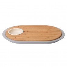 Leo Two-sided Tapas Cutting Board with Tray (Bamboo) - BergHOFF