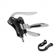 Lever Corkscrew with Foil Cutter & Extra Spiral (Aluminum) - Versa