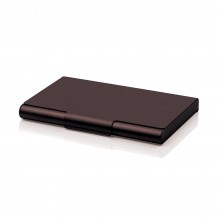 Card Box 20 Business Card Case (Brown) - LEXON