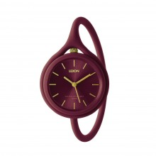 Take Time 3 in 1 Wrist Watch (Plum) - LEXON