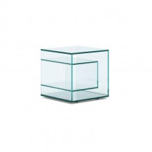 Liber E Glass Side Table - Tonelli Design
