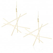 Line Earrings M (Gold) - Moorigin