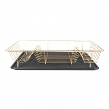 Linea Dish Rack (Gold / Black) - Present Time