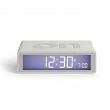 Flip + LCD Alarm Clock White - LEXON