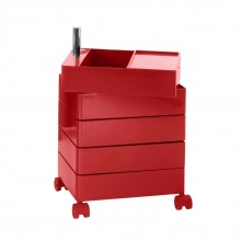 360° Container Drawer Unit 5 Compartments (Red) - Magis
