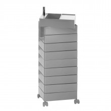 360° Container Drawer Unit 8 Compartments (Light Grey) - Magis