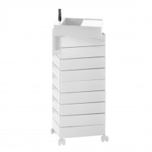 360° Container Drawer Unit 8 Compartments (White) - Magis