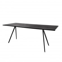 Baguette Rectangular Table (Black / Black Legs) - Magis