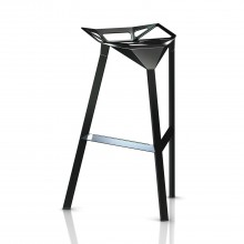 Stool One Stackable Bar Stool (Black) - Magis