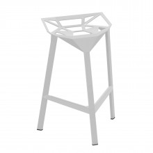 Stool One Stackable Bar Stool (White) - Magis