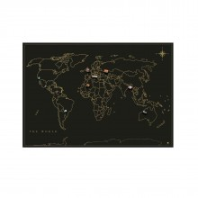 Magnet Travel Map (Black)