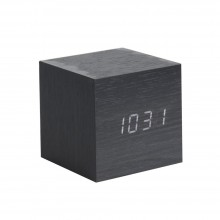 Mini Cube Alarm Clock (Black) - Karlsson